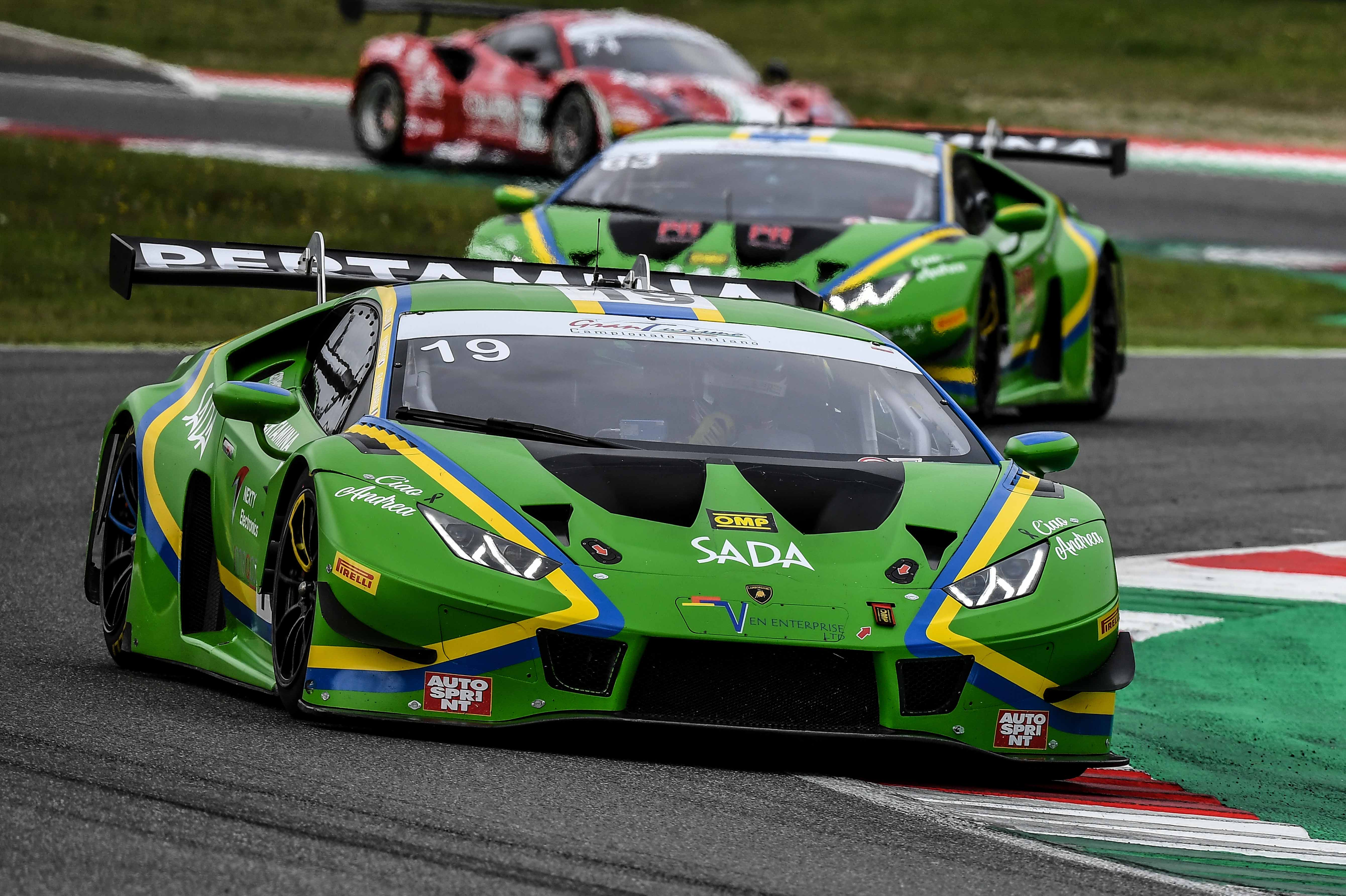 MUGELLO PODIUMS FOR BOTH VSR LAMBORGHINIS